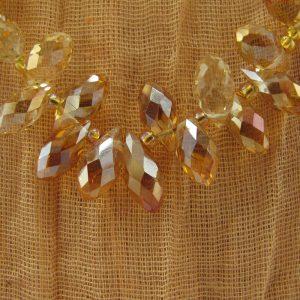 Golden Briolette Crystal Necklace