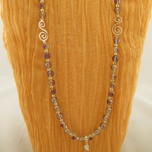 Electroplated Quartz Bead Necklace