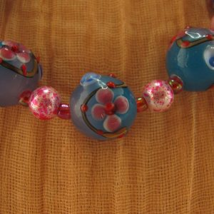 Lampwork Floral Bead Necklace