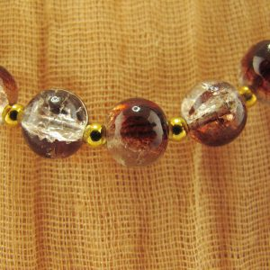 Crackle Glass Bead Necklace