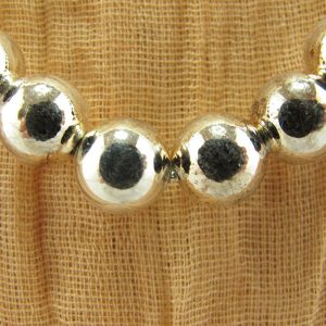 Sterling Silver-Filled Bead Necklace