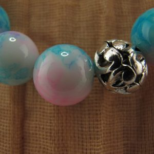 Marbled Glass Bead Necklace