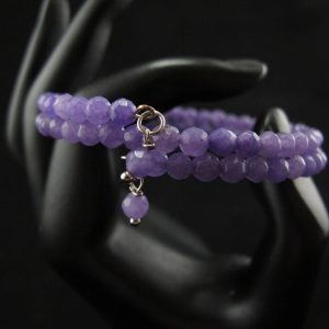Small Faceted Amethyst Beads Bracelet