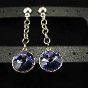 Swarovski Dangle – 'Tanzanite'