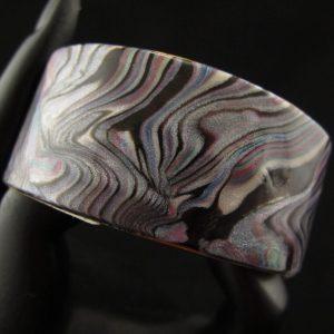 Faux Abalone Flat Cuff 2.5 cm