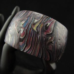 Faux Abalone Domed Cuff 3.7 cm