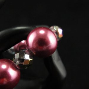 Oversized Bright Pink Glass Pearls