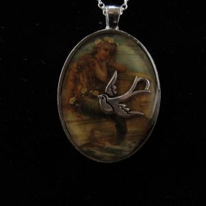 Mermaid with Silver Plate Swallow