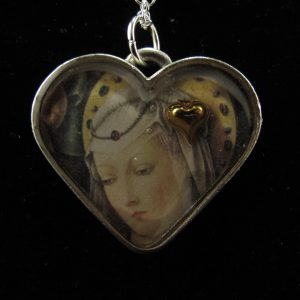Madonna with Gold Plate Heart