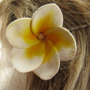 Frangipani Hair Pin with Swarovski Crystal