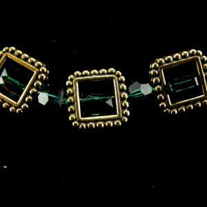 Framed Swarovski 'Emerald' Crystal Necklace