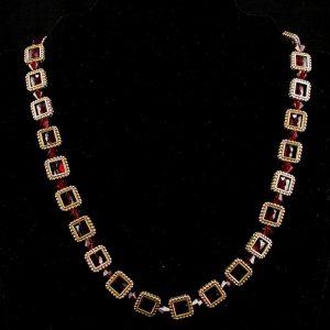 Framed Swarovski 'Ruby' Crystal Necklace