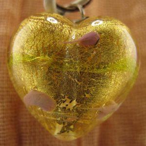 Lampwork Murano Heart Pendant