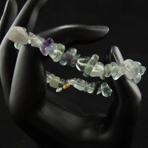 Fluorite Chips Stretch Bracelet