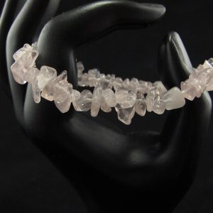 Rose Quartz Chips Stretch Bracelet