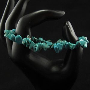 Turquoise Chips Stretch Bracelet