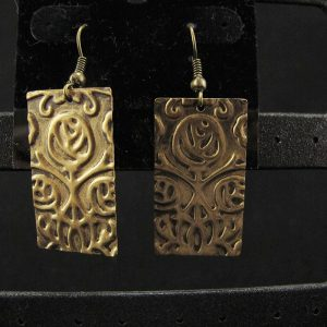 Antique Gold Abstract Rose