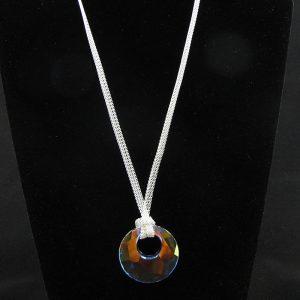 Swarovski 'Victory' Crystal Pendant – Aurora Borealis