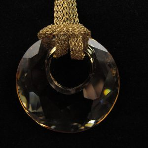 Swarovski 'Victory' Crystal Pendant – 'Golden Shadow'