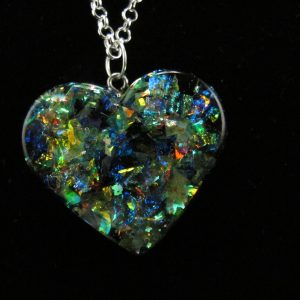 Fancy Dichroic Resin Heart