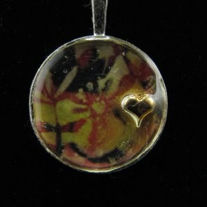 Tropical Heart Resin Pendant