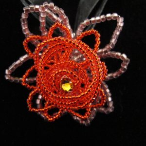 Seed Bead Wire Rose