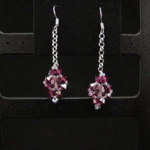 Simple Beaded Swarovski Earring