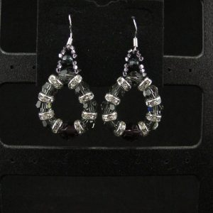 Swarovski Circular Earrings with Rondelles
