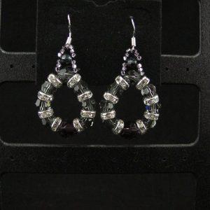 Swarovski Circular Earrings with Rondelles