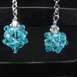 Swarovski Blue Crystal Bead Dangle