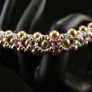 Swarovski Pearls Embellished with Multi-Colour Crystal Montees