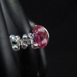Pink Swarovski Half Rondelle Ring