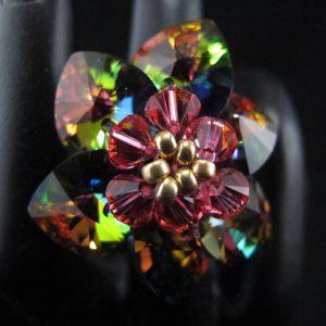 Vitrail Swarovski Crystal Flower Ring