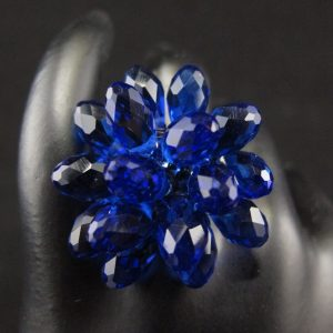 Briolette Flower Ring