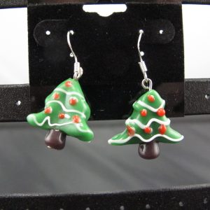 Ceramic Xmas Tree Earrings