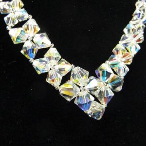 Swarovski Crystal 'V' Necklace