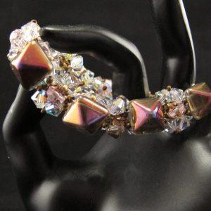 Rainbow Pyramid and Crystal Bracelets