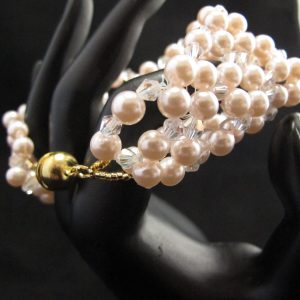 Chinese Pearls and Crystal Bracelet