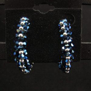 Swarovski Indigo Hoop Earrings