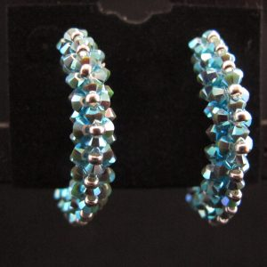 Swarovski Turquoise Hoop Earrings