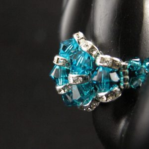 Swarovski 'Blue Zircon' Rondelle Ring