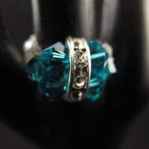 Swarovski 'Blue Zircon' Rhinestone Ring