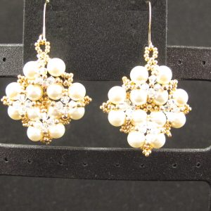 Swarovski Pearl & Crystal Snowflake Earrings