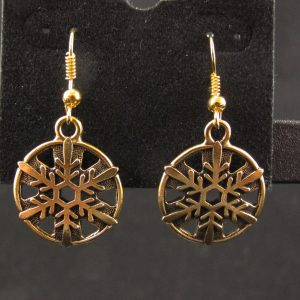 22K Gold Plated Snowflake Earrings