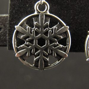 Silver Plated Snowflake Earrings