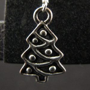 Silver Plated Xmas Tree Earrings