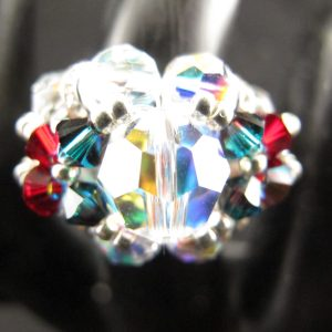 Christmas 10mm Focal Bling Ring