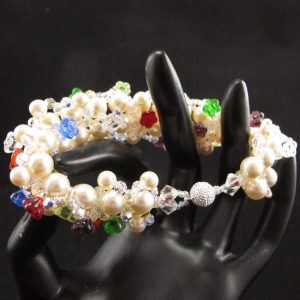 Swarovski Pearls & Glass Flowers Bracelet