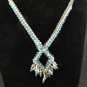 Swarovski Crystal Rope Necklace – Indicolite AB