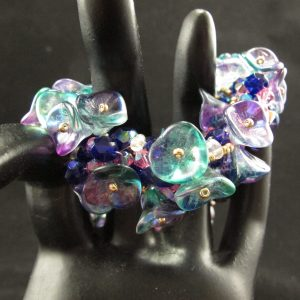 Czech Glass Beads and Flowers Bracelet